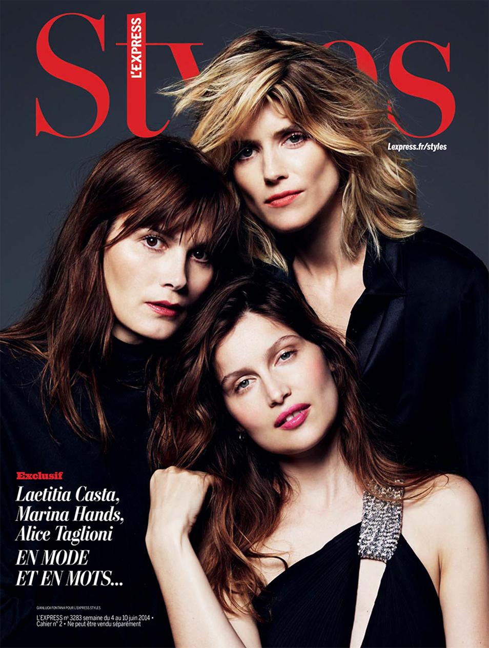 Laetitia Casta,Marina Hands, Alice Taglioni -  L'Express Styles